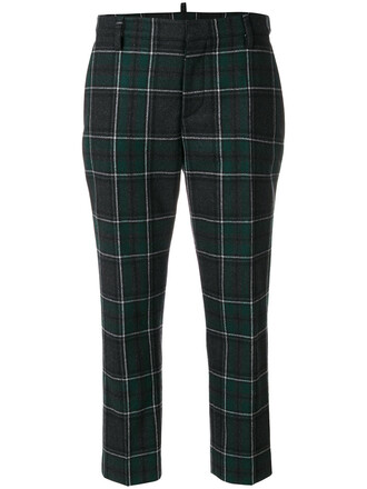 women wool green pants