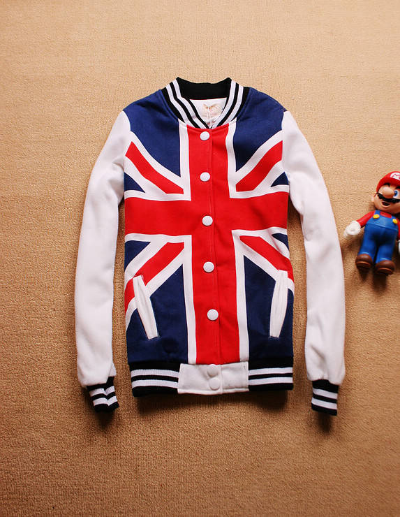 La camiseta torx de la largo manga de la bandera de Inglaterra de la bandera de la chaqueta ocasional del
