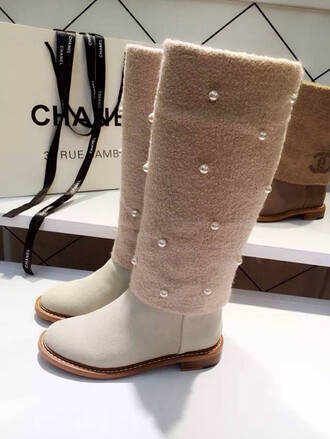 shoes fashionista coco chanel shoes chanel chanel boots boots fashino style stylish winter boots