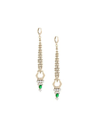 long metallic women jewels earrings