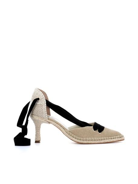 black beige shoes
