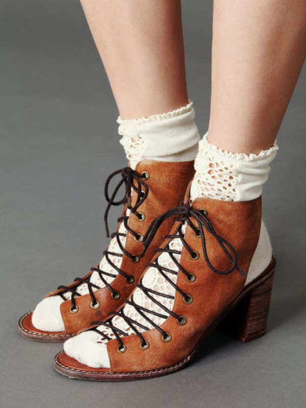 Jeffrey Campbell Free People Minimal Lace Up Heel at Free People ...