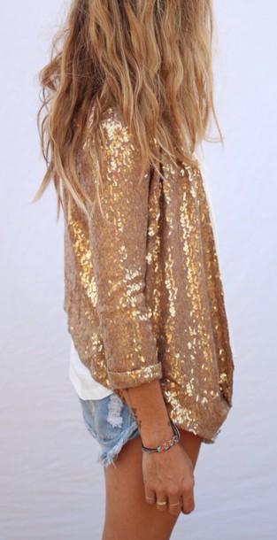 jacket gold sequins sequin jacket