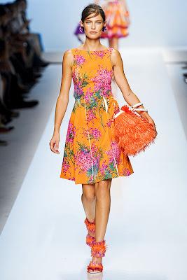 Sister stylista: blumarines orange floral dress as seen on gossip girl's blair waldorf