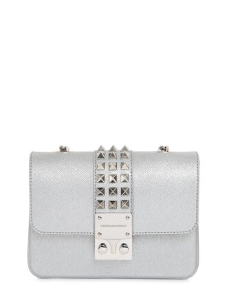 studded glitter bag shoulder bag silver