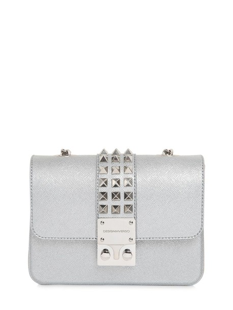 Designinverso studded glitter bag shoulder bag silver