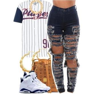 jeans cut jeans jersey urban