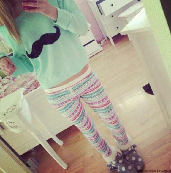 sweater mustache cute stylish