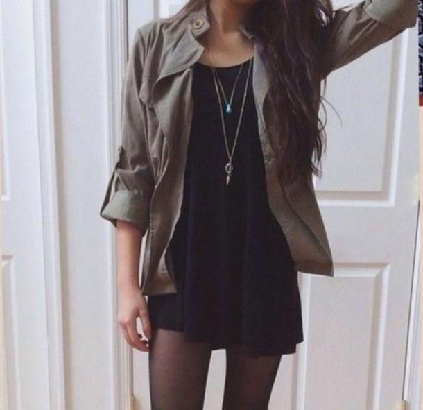 dress black dress jewels
