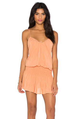 dress halter dress cross back criss cross orange