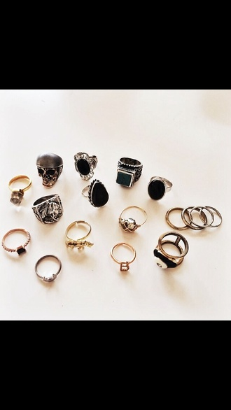 jewels skull ring skull ring indie accessories jewerly skulls hipster good old
