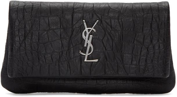 Saint Laurent hollywood clutch black bag