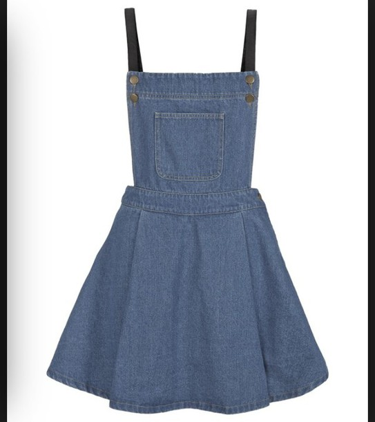 Dress Denim Dungarees Skirt