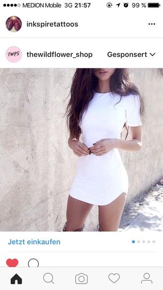 dress white t-shirt dress mini dress