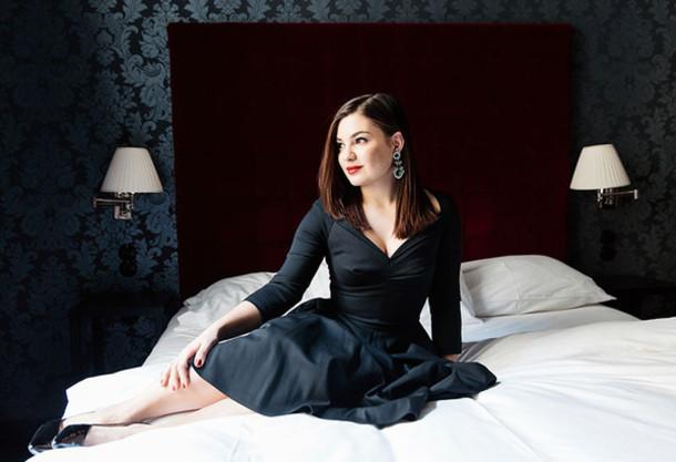 dariadaria blogger v neck dress little black dress cocktail dress