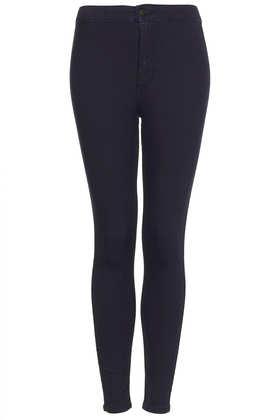 MOTO Blue Black Joni Jeans - Topshop
