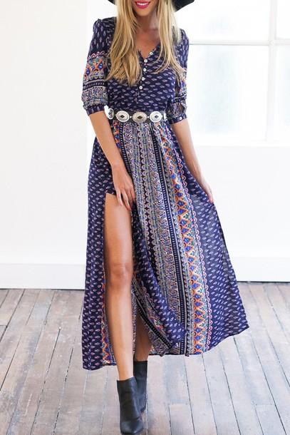 Dress maxi dress fall outfits fall dress back to school summer casual boho boho chic ...