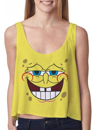top cute yellow top tank top