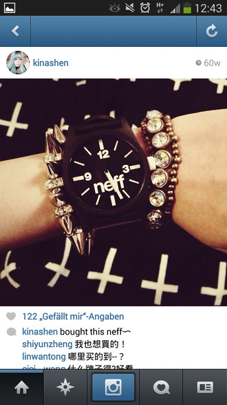 jewels watch black black watch