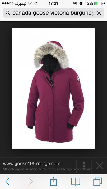 jacket, winter outfits, burgundy, burgundy, berry, canada goose, woolrich, parka, parka, winter coat, fur - Wheretoget