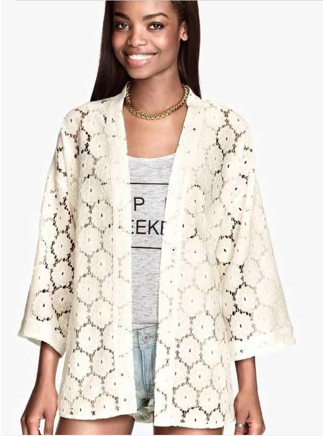 Lace Kimono Cardigan 2014 Fashion Women Summer Spring Shirts European Style Chiffon Blouse Floral Print Blusas de seda-in Blouses & Shirts from Apparel & Accessories on Aliexpress.com | Alibaba Group