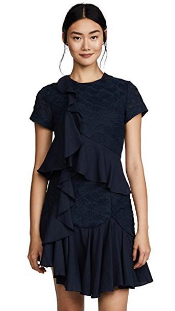 C/MEO COLLECTIVE dress short sleeve dress short navy