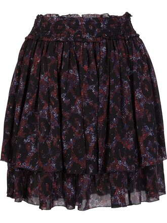 skirt women black silk