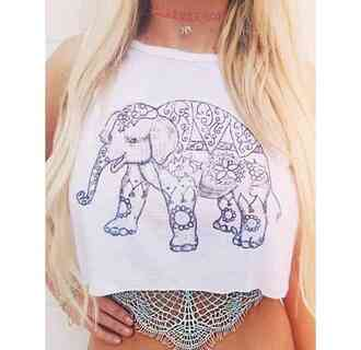 elephant tank top tank top.  crop top crop tops boho boho chic boho shirt lace under shirt choker necklace elephant necklace pink choker tattoo coker underwear