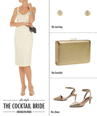 bklyn bride blogger sandals gold wedding clothes dress jewels bag shoes