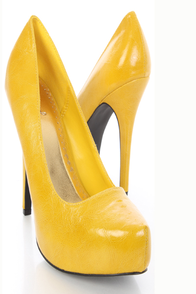 Cheap Wholesale-shoes and bags to match Lemon Yellow Dress Shoes for wedding party italian
