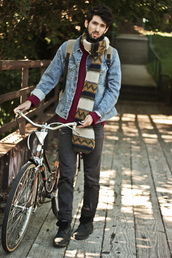 bobby raffin,blogger,scarf,jacket,shoes