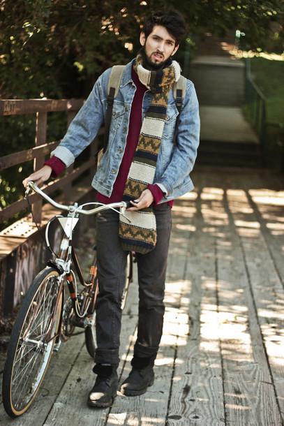 bobby raffin blogger scarf jacket shoes