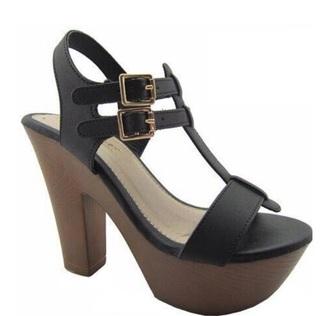 shoes black heels summer wedges style