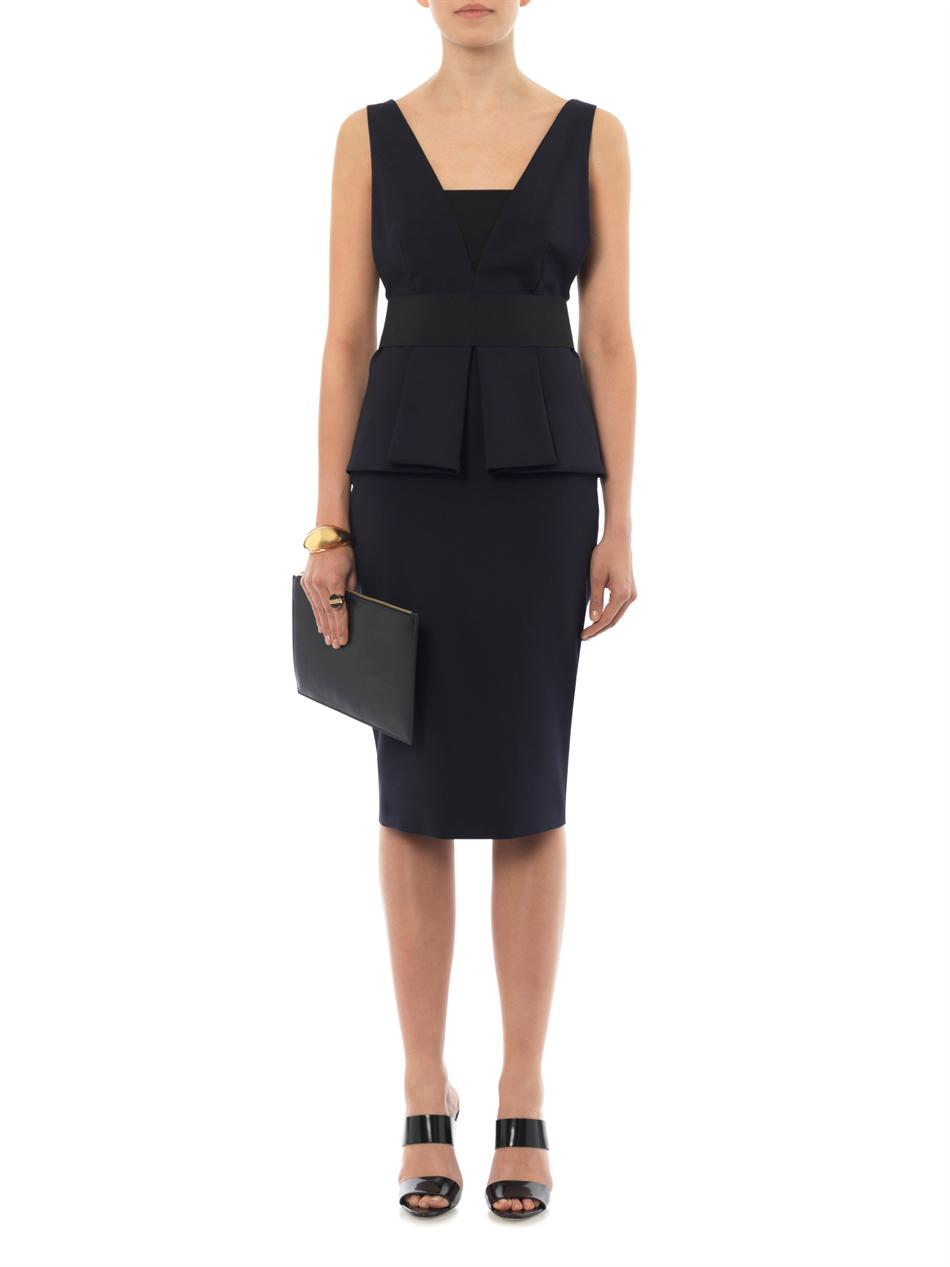 Fibra midnight-blue dress | Sportmax | MATCHESFASHION.COM