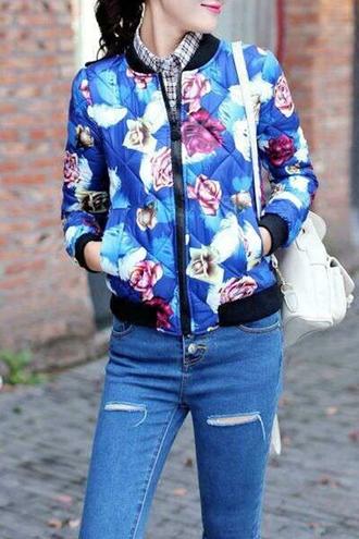 jacket floral denim zaful hipster trendy hippie
