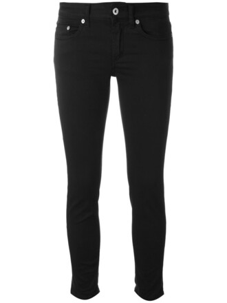 jeans skinny jeans cropped women spandex cotton black