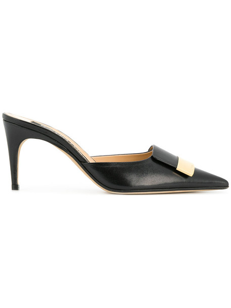 Sergio Rossi women pumps leather black shoes
