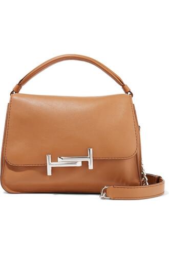 bag shoulder bag leather tan