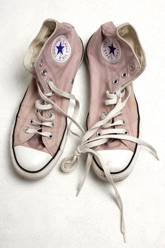 shoes pink sneakers converse converse all star pale pink pink converse pink shoes