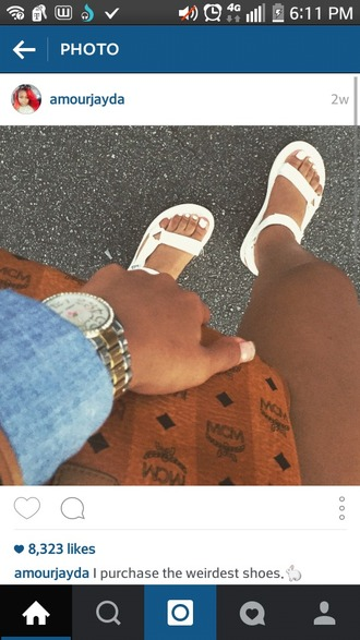 shoes all white sandals birkenstock? cheetah print straps white flatforms sandals dress kylie jenner bodycon cute fashion