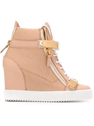 sneakers wedge sneakers purple pink shoes