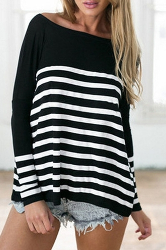 sweater casual top cute fall outfits winter outfits black and white long sleeves back to school tomboy