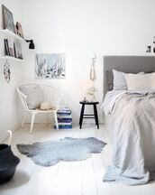 home accessory,bedroom,rug,chair,bedding,grey,cozy,home furniture,combat boots