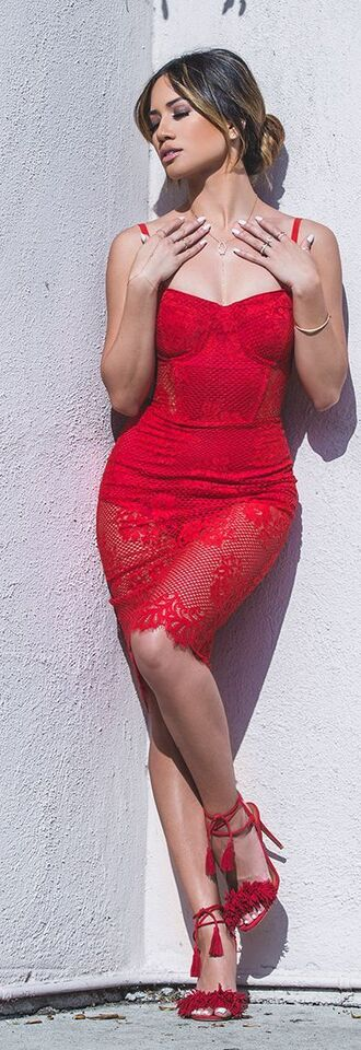 dress lace red dress bodycon lace dress red lace red lace dress shoes