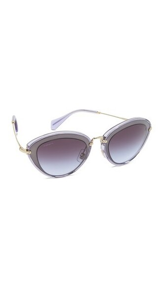 transparent light sunglasses pink brown