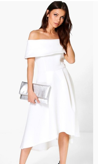dress white off the shoulder dress