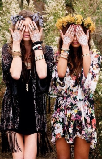 dress boho bohemian clothes kimono floral coat jewels shorts jacket cardigan flowered print colorful floral print floral dress blouse bohemian style coachella coachella dress hippie fashion hipster pink 2014 full length forever hill model heart ball sparkle sequin