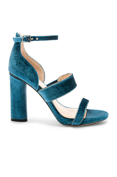 Vince Camuto heel teal shoes