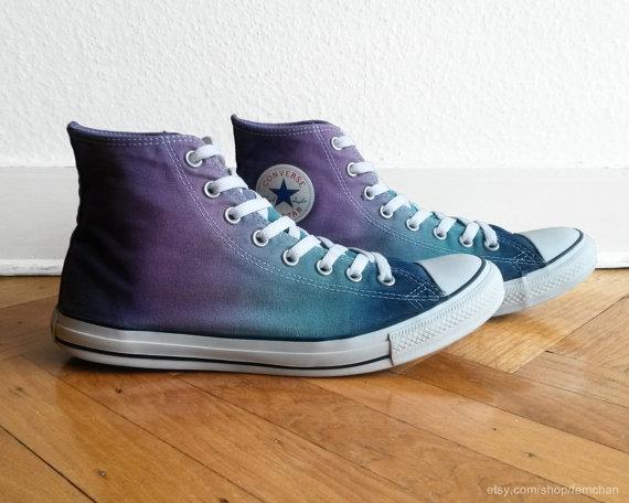 Shades of purple   blue ombre Converse 6a6dc1316e07