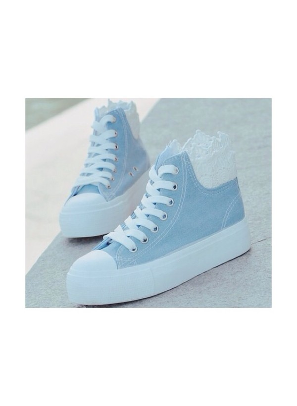 Shoes Light Blue Cute Cute Shoes Baby Blue Blue Kawaii Lovely